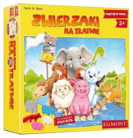 Zwierzaki na Tratwie Gra Planszowa familijna ZOO safari Logiczna HIT