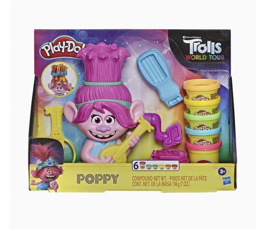 Play Doh Тролли Розочка Радужные волосы