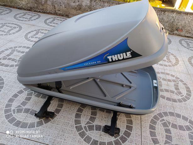 Mala de tejadilho Thule + Barras