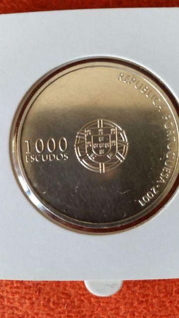 Moeda 1000$ em prata