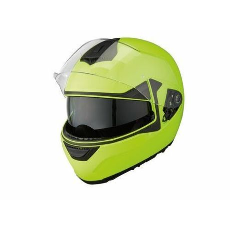 Nowy Kask motocyklowy szczękowy + pinlock HCM shark high visibility