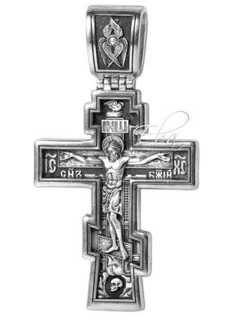 Акимов Крест Серебро Крест Распятие Христово Молитва воскреснет бог