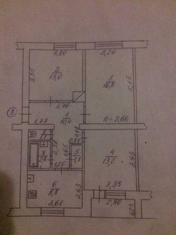 Продам квартиру 3-х кімнатну