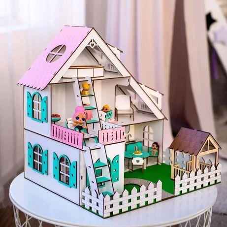 Кукольный домик+мебель Летний NestWood для кукол до 15см ЛОЛ кукла LOL