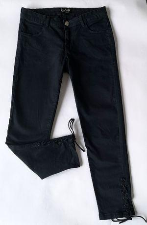 Spodnie rurki CROPP sznurowane wiązane nogawki (S)