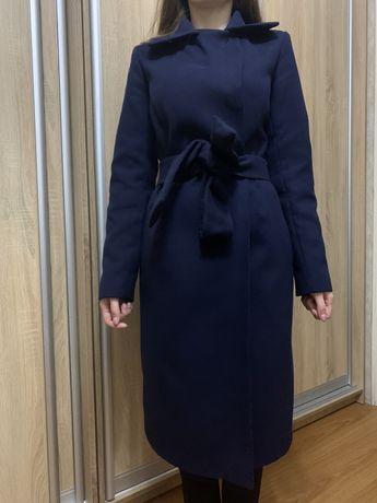 Продам шикарное двубортное пальто с поясом
