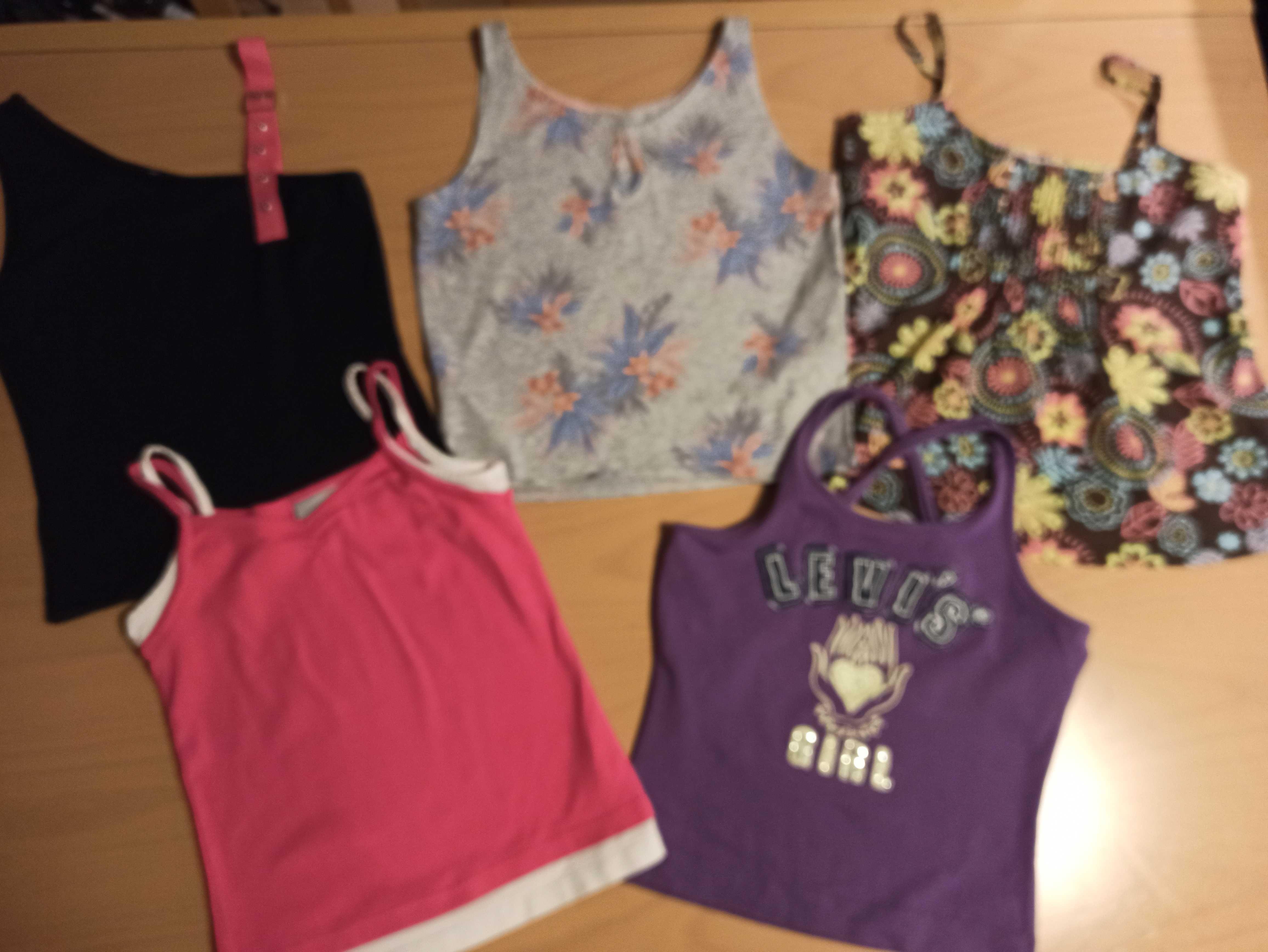 Levis, H&M - bluzki na ramiączkach dla dziewczynki - rozm. 146 - lato