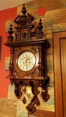 Zegar mechaniczny,stary,Gustav Becker-Silesia,sygnowany