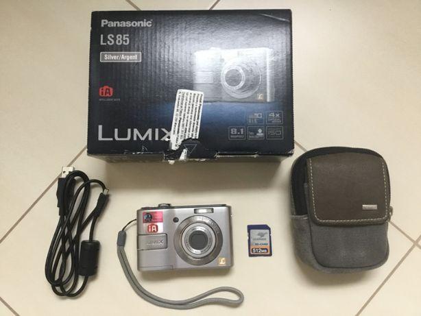 Aparat fotograficzny Panasonic Lumix LS85 + karta pamięci 512MB + etui