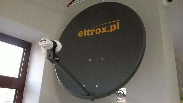 Zestaw Antena Satelitarna CORAB CZASZA 80 CM + Konwerter Eltrox Radom