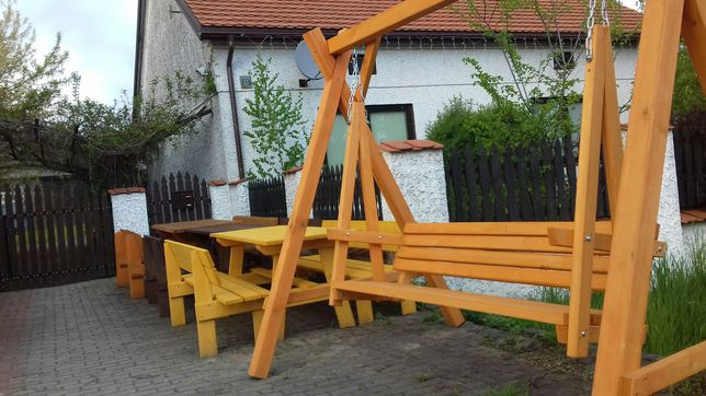 Meble ogrodowe, domy i domki, WC drewniane, huśtawki, stoły , ławki,