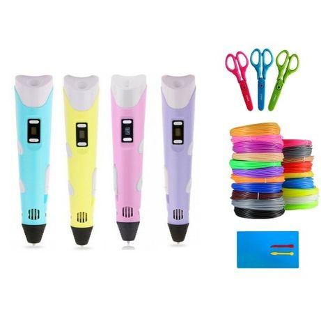 3D-ручка / пластик 10шт / ножницы / доска (НАБОР)