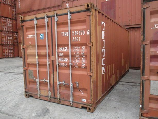 Морской контейнер 20 футов (6 метров) доставка + выгрузка манипулятор