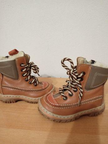 Шкіряні зимові чоботи ботинки сапоги розмір 19