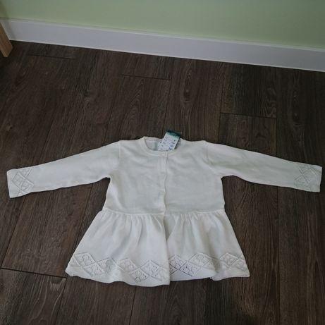Nowy sweterek dla dziewczynki 92