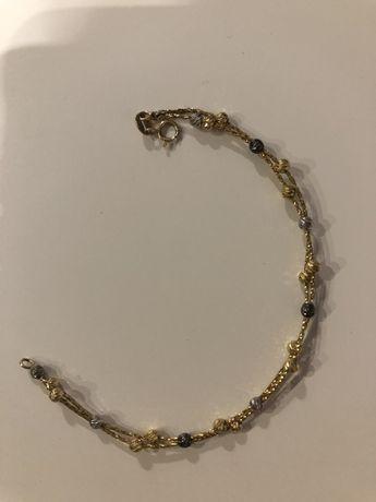 Złota bransoletka