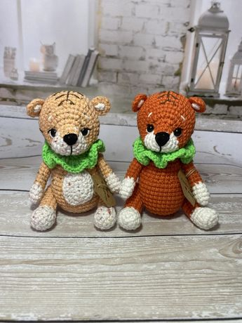 Вязаная игрушка амигуруми тигр тигрёнок символ 2022 ручная работа