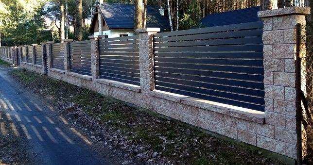Montaż ogrodzeń: bloczek gładki, łupany, architektoniczny, klinkier