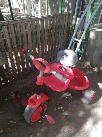 Трёхколёсный Велосипед детский с родительской ручкой hauck prema