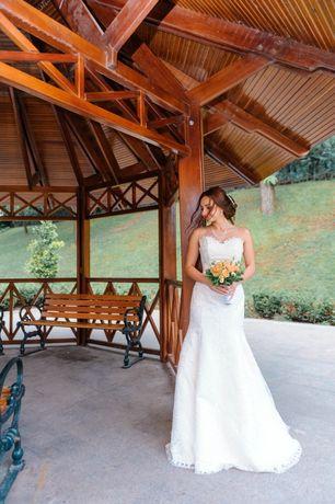 Свадебное платье, весільна сукня, рыбка, силуэт А, дизайнерское