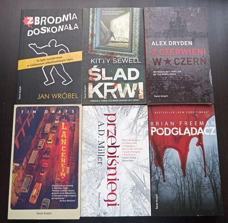 Zestaw książek, 6 szt. thrillerów
