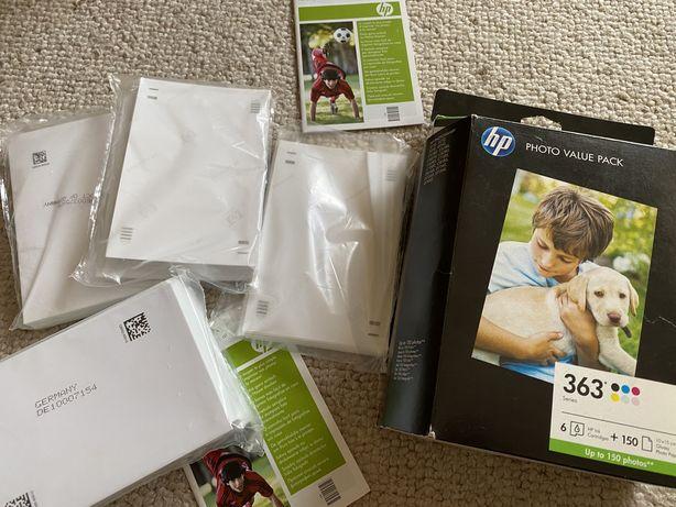 papier fotograficzny HP błyszczący 10x15 ponad 150 arkuszy