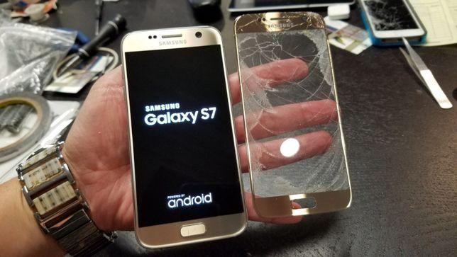 Naprawa S8 S9 S10 Edge A50 A7 wymiana szyby Samsung Wyświetlacz szybki