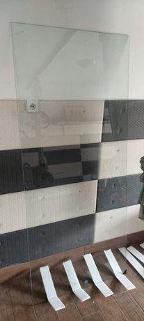 Ściana szyb prysznicowa wolnostojąca nowa szkło hartowane 85 x 193 cm