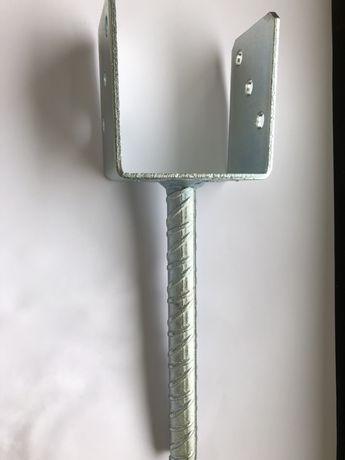 Podstawa słupa stała z prętem 90mm, wspornik stały, kotwa, podstawy