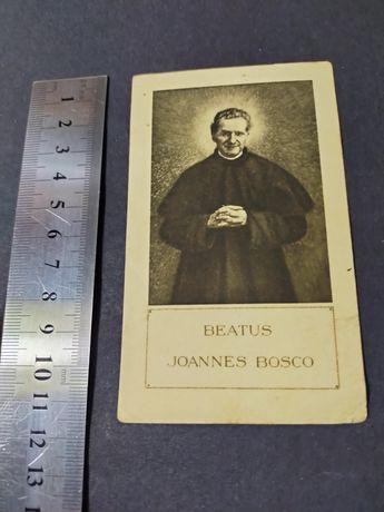 Obrazek św. Jan Bosco. Beatus Joannes Bosco. Rzym 1932r.