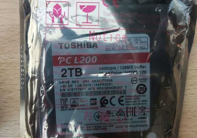 Жесткий диск hdd для ноутбука toshiba 2tb