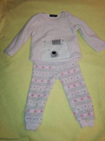 Pidżama pluszowa dziewczęca 86