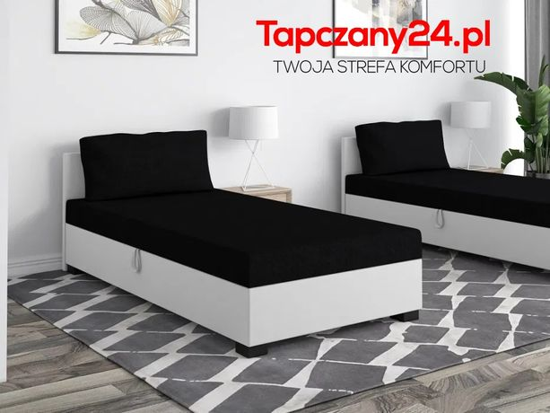 Tapczan Łóżko hotelowe 80/90/100 Jednoosobowe poduszka GRATIS