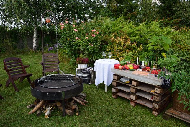 Duże palenisko ogrodowe 120 cm metalowe solidne na grilla Producent