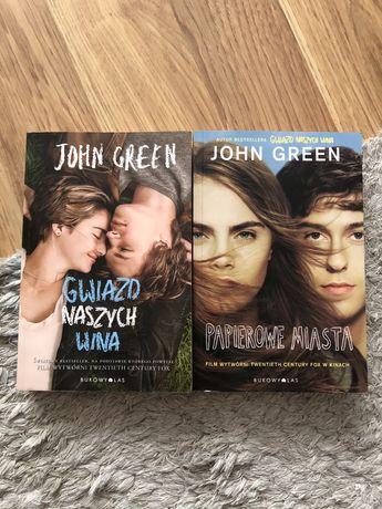 """Zestaw książek John Green """"Gwiazd naszych wina"""" i """"Papierowe miasta"""""""