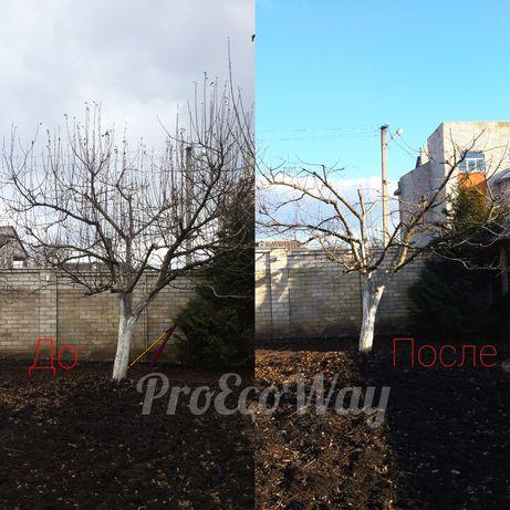 Профессиональная обрезка сада, обрезка деревьев, хим. обработка.