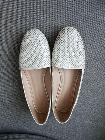 Buty sportowe tenisowki białe błyszczące