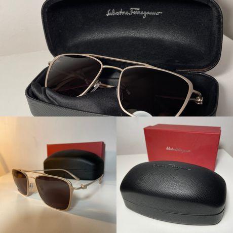 Okulary Salvatore Ferragamo - tytanowe oprawki - nowe, nieużywane!