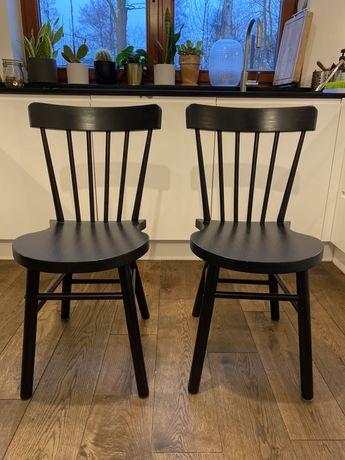 Krzesła drewniane IKEA NORRARYD krzesło do jadalni 2 sztuki