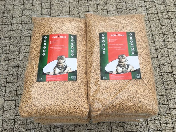 Żwirek dla kota królika chomika Pellet sosnowy eko ściółka 15 kg 38 L