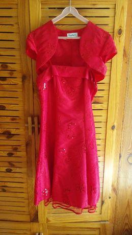 Sukienka czerwona - rozmiar 38
