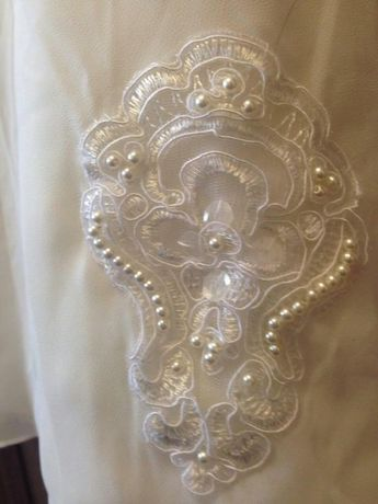 Нежное свадебное платье струящееся айвори размер 42-46