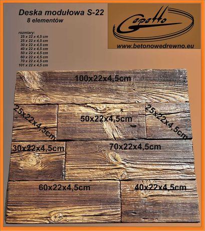Taras, deska modułowa, schody z betonowego drewna, imitacje drewna