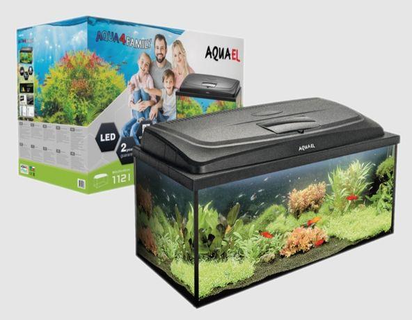 Aquael Aqua4family 112L zestaw akwariowy 80x35x40cm Prosty