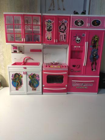 Кухня Монстр Хай/мебель для Барби /мебель для кукол /кухня для Барби