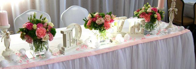 Literki LOVE podświetlane, dekoracja wesele, ślub