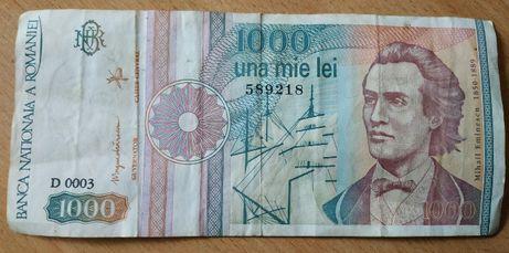 продам купюру 1000 леев 1991 года - Румыния