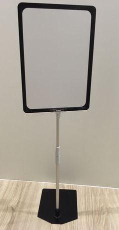 Ramka plakatowa A4 na stopce 60cm, plakat, stojak statyw reklamowy