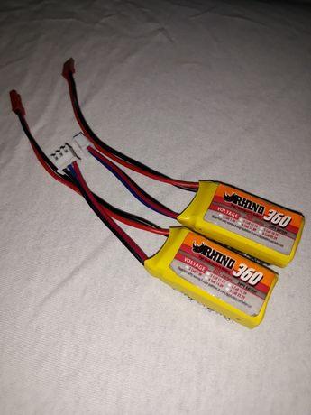 Akumulatory Rhino 360mAh 2S 20C JST 2szt