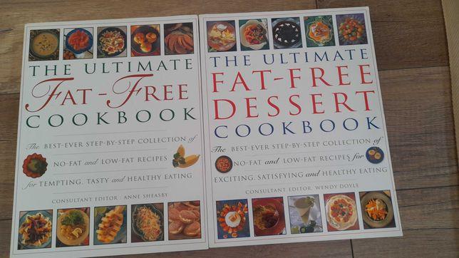 Książki zdrowa dieta, Fat-Free, zdrowie odżywianie, zestaw - za kawę!